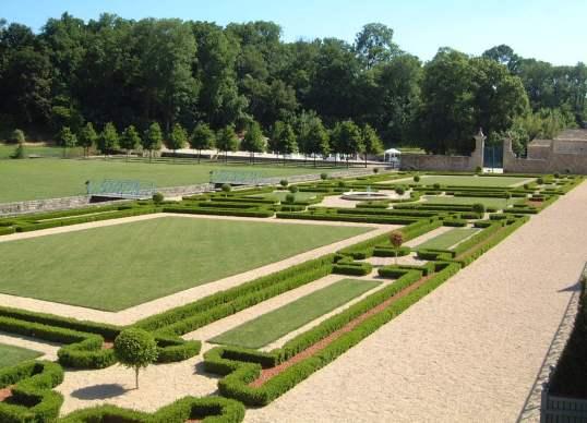 Formal gardens at Celles-sur-Belles